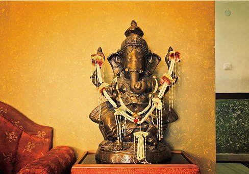 Ganesha, Sculpture, India, Room, Elephant, Hinduism
