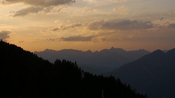 Mountains, By Amin Kalbasi, Sunset, Tirol
