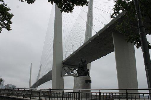 Bridge, Vladivostok, Street, Architecture