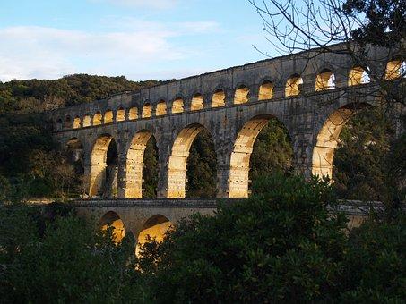 Pont Du Gard, France, Architecture, Pont, Gard, Du