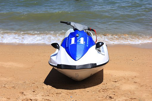 Boat, Water, Beach, Vacation, Sand, Scooter, Sea, Speed