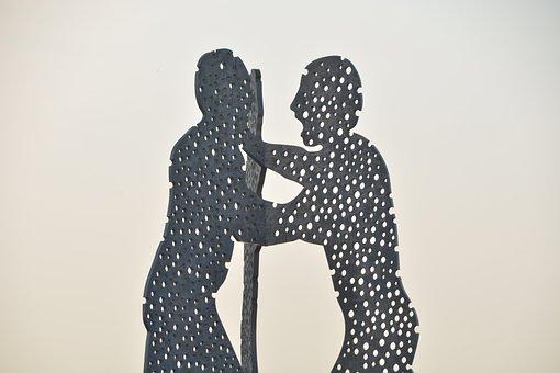 Molecule Men, Sculpture, Modern Art, Artwork, Berlin