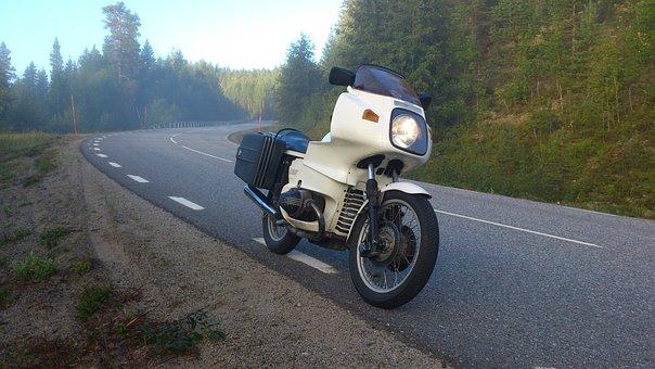 Motorcycle, Road, Bmw, R100 Rs, Mist