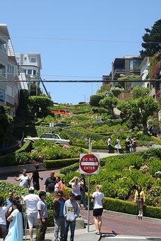 Lombard Street, Street, San Francisco, California
