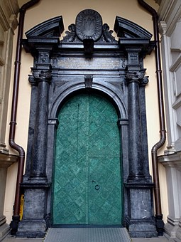 Wawel, Castle, Monument, The Door To The Cathedral