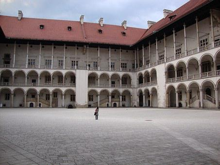 Kraków, Poland, Wawel, Monument, Castle, Courtyard