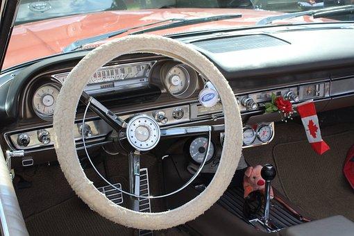 Car, Classic, Interior, Dashboard, Vintage, Transport