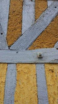 Wall, Stud, Texture, Old House, Normandy, Daub