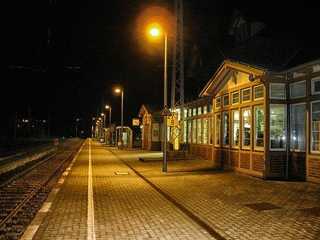 Sassnitz, Germany, Depot, Station, Platform, Train