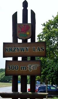 Brand, Pointer, Direction, Crooked Forest, Krzywy Las