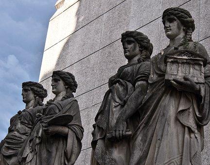 Düsseldorf, Germany, Europe, Art, Monument, Greek