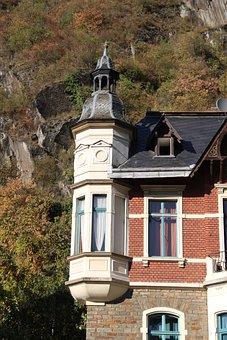 Altenahr, Oriel, Bay, Tower, House, Exterior, Facade