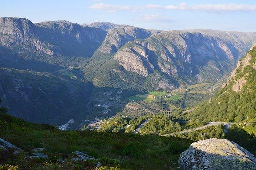 Norway, Kjerag, Lysebotn, Fjord, Nature, Hike, View