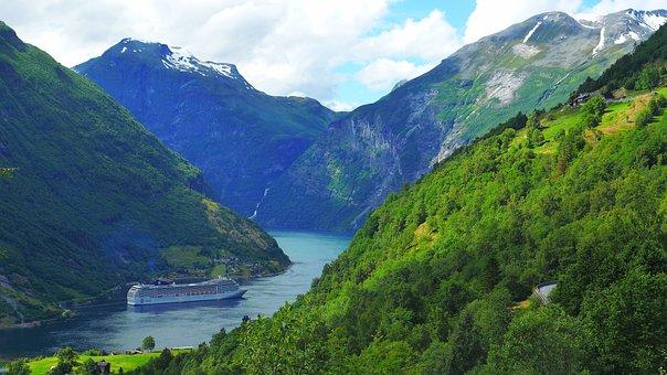 Geiranger, Norway, Fjord, Landscape
