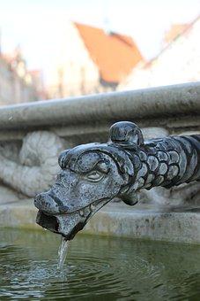 Nysa, Monument, Fountain, The Triton Fountain