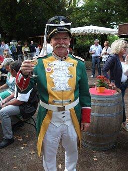 Wine Festival, Mainz, Guardsman, Costume, Celebrations