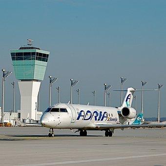 Munich, Airport, Aircraft, Adria Airways, International