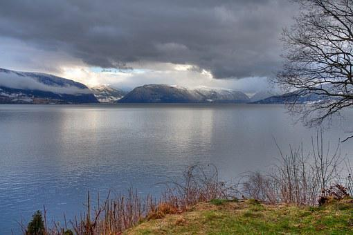 Norway, Fjords, Nature, Tourism, Vacation, Lake, Rainy