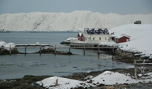 Norway, Lapland, Northern Cape, Fjord