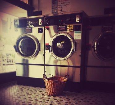 Laundromat, Launderette, Washing, Laundry, Washeteria