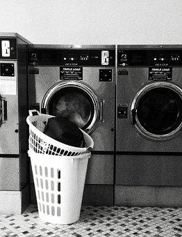 Laundromat, Laundry, Launderette, Laundry Baskets