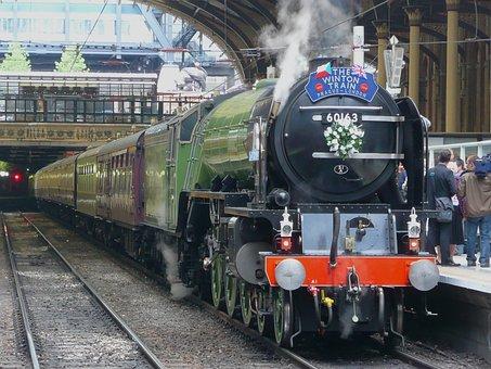 London, England, Great Britain, Train, Locomotive