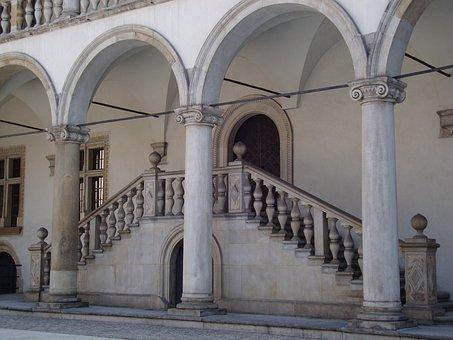 Wawel, Castle, Courtyard, Monument, Architecture