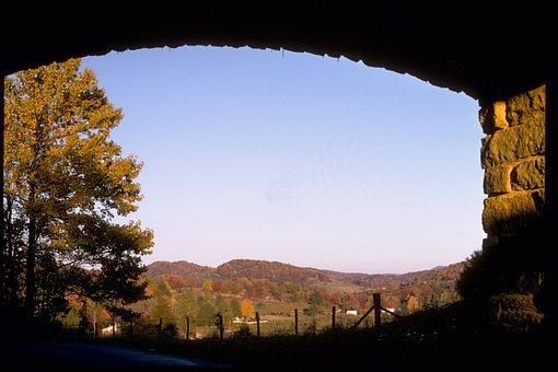 Blue Ridge Mountains, Fall, Autumn, Mountains, Sky