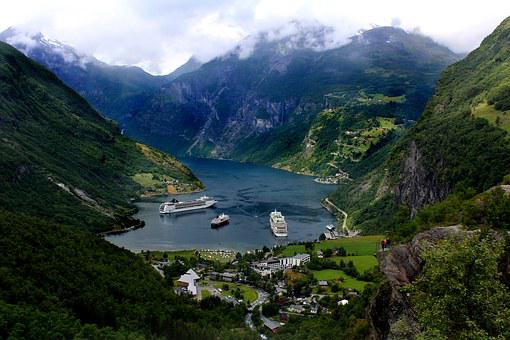 Geiranger, Panoramic, Fjord, Norway