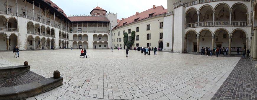 Kraków, Poland, Wawel, Castle, The Castle Courtyard