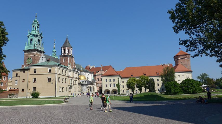 Poland, Krakow, Wawel, Cathedral And Castle