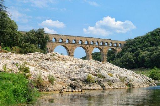 France, Gard, Provence, Pont Du Gard