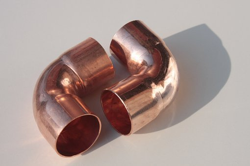 Copper, Elbow, Fittings, Pipes, Red, Shine, Objects