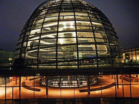 Berlin, Bundestag, Reichstag, Glass Dome, Museum Island