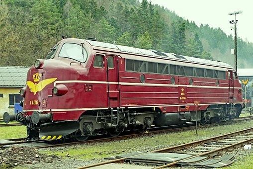 Diesel Locomotive, Nohab, Round Nose, Denmark, Eifel