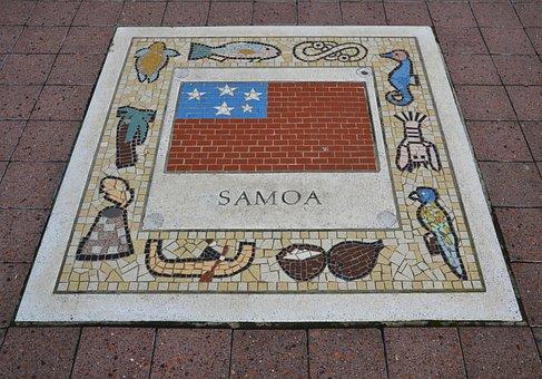 Samoa, Team Emblem, Flag, Rugby, Color, Emblem, Symbol