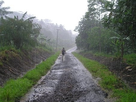 Downpour, Rainy Season, Samoa, Exotic, South Sea