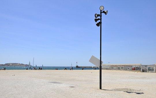 Marseille, Mediterranean, Rock, Space, Lantern