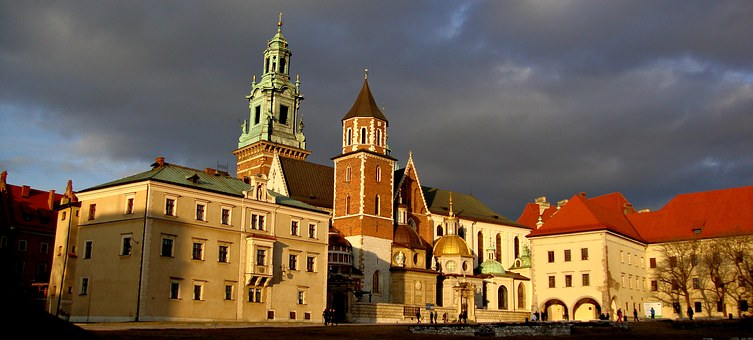 Wawel, Castle, The Cathedral, Monument, Clouds, Storm