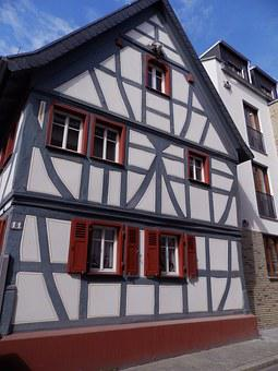 House, Former, Studs, Old House, Normandy, France