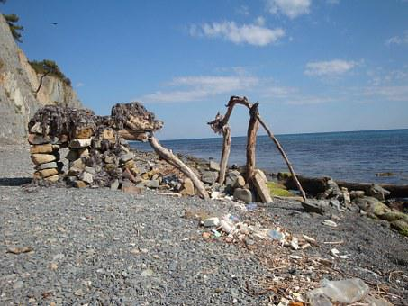 Sea, Stones, Mammoth, Water, Summer, Landscape, Surf