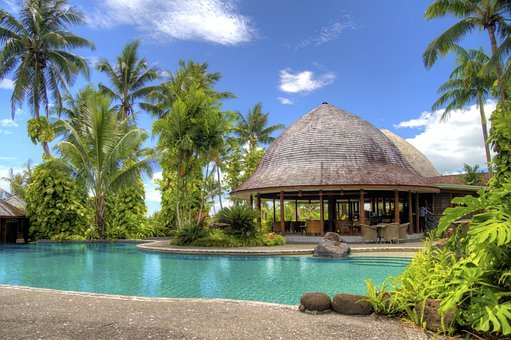 Resort, Samoa, Swimming Pool, Palm, Pool, Tree, Tourism