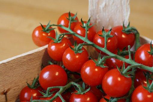 Crate, Food, Fresh Vegetables, Tomatoes