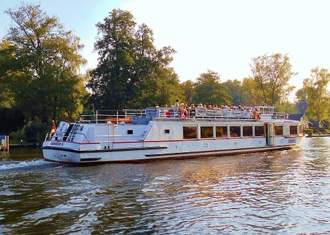 Water, River, More, Steamer, Tourism, Spree, Berlin