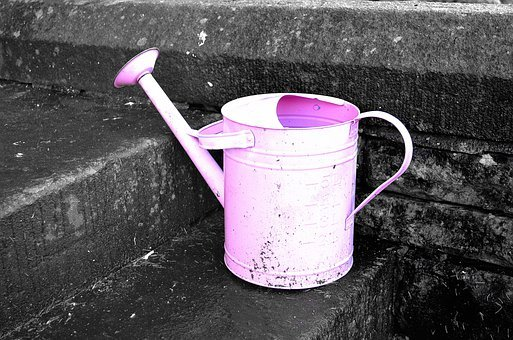 Watering Can, Metal, Tin, Tool, Container, Dirty