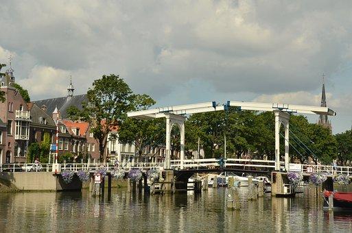Bridge, River, Fight, Weesp, Netherlands