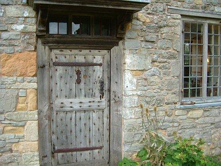 Door, Old Door, Studded Door, Doorway, Wood, Entrance