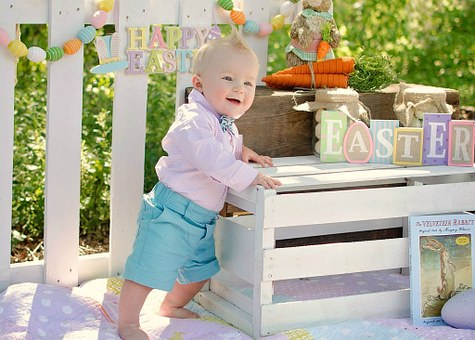 Baby Boy, Easter, Pastel, Wood Crate, Zaiden