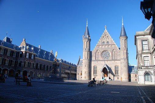 Courtyard, Ridderzaal, Monument, The Hague, Blue, Air