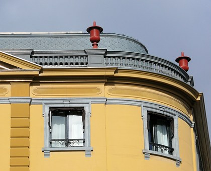 Hotel Des Indes, Roof, Building, Yellow, Architecture